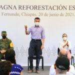 Desde San Fernando, Rutilio Escandón pone en marcha Magna Reforestación estatal 2021